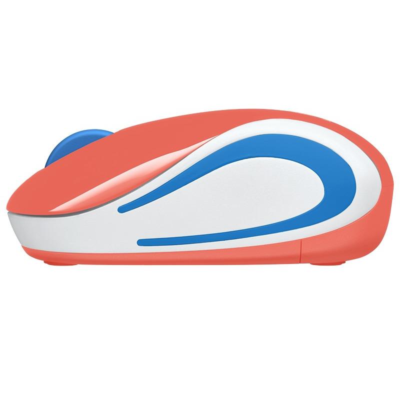 Mini mouse inalámbrico, mouse ultraportátil Logitech M187 Coral