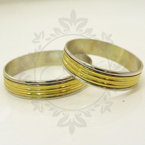 nuevo estilo 651b2 14e0e Alianzas Oro Y Plata 925 Anillos Para Compromiso Casamiento ...