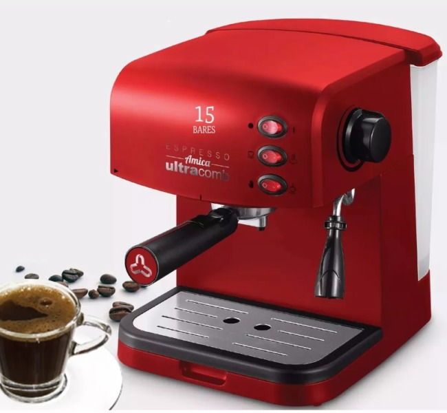 Cafetera Expresso Ultracomb CE-6108. 15bar
