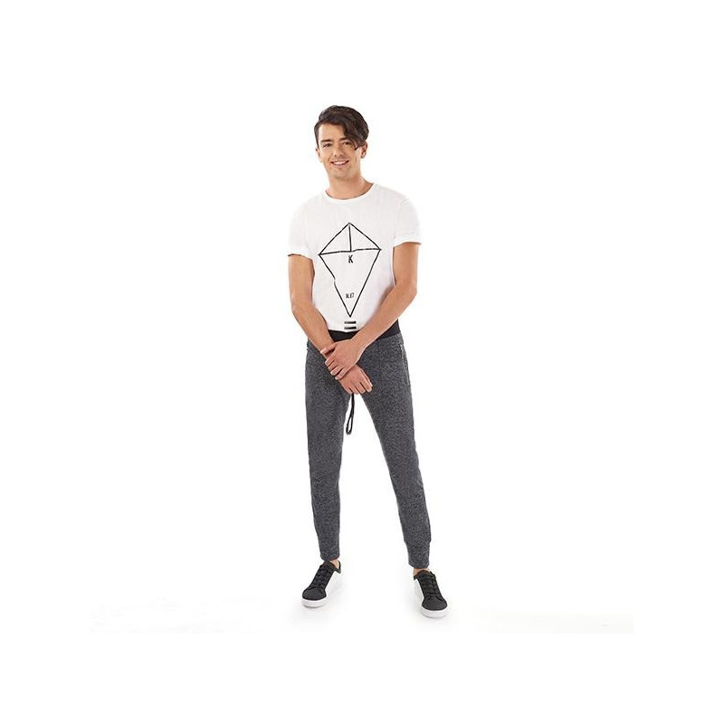 Pantalón deportivo gris 014641