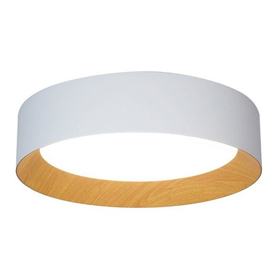 Plafon Led Barcelona 60w Dimerizable Simil Madera Deco Puro