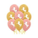 globo unicornio dorado rose gold desinflada apto helio