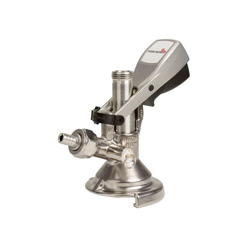 Conector A Micromatic con Válvula de Alivio - Acero Inox