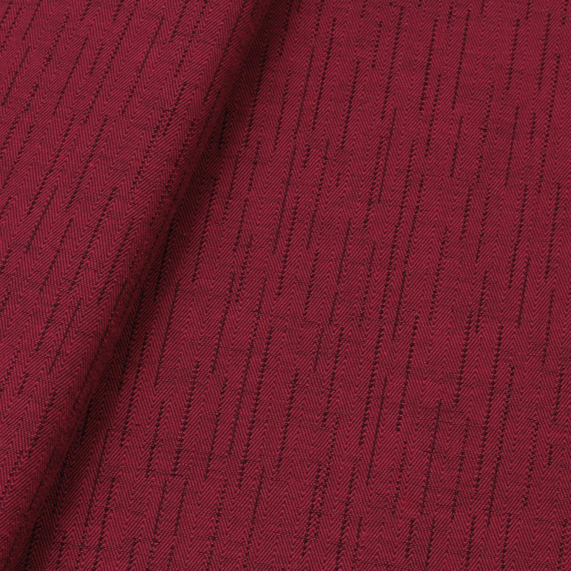 Tecido jacquard para sofá falso liso - cereja/marrom - Impermeável - Coleção Panamá
