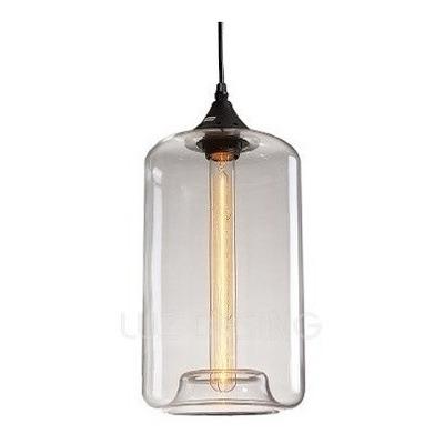 Colgante Eryx Vintage Cristal Transparente Moderno Lk