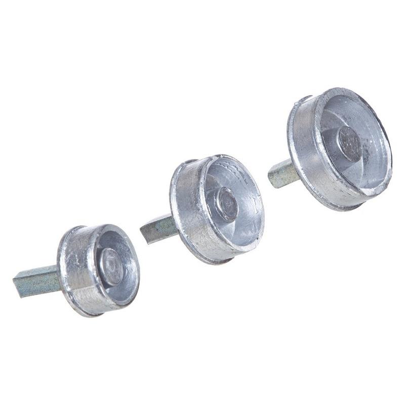 """Bucha de alumínio pino quadrado 2.5 """" (T10.2)"""