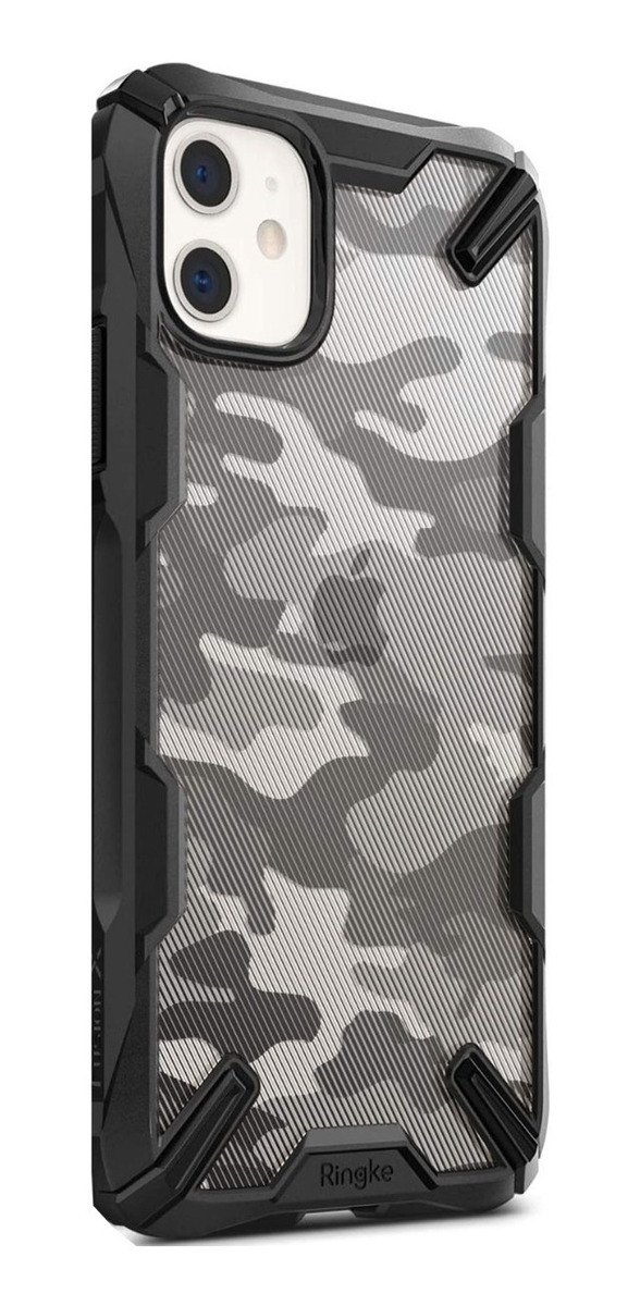 FUNDA RINGKE FUSION X CAMO BLACK IPHONE 11 PRO MAX