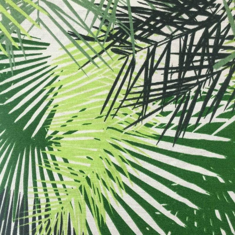 Tecido impermeável Acqua Soleil folhagem palm verde cueva