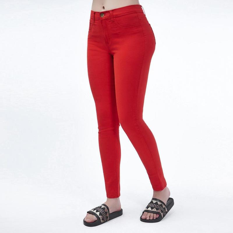 Pantalón Rojo Ajustado 019413