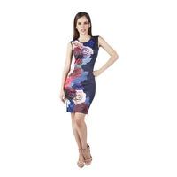 Vestido corto multicolor 015436