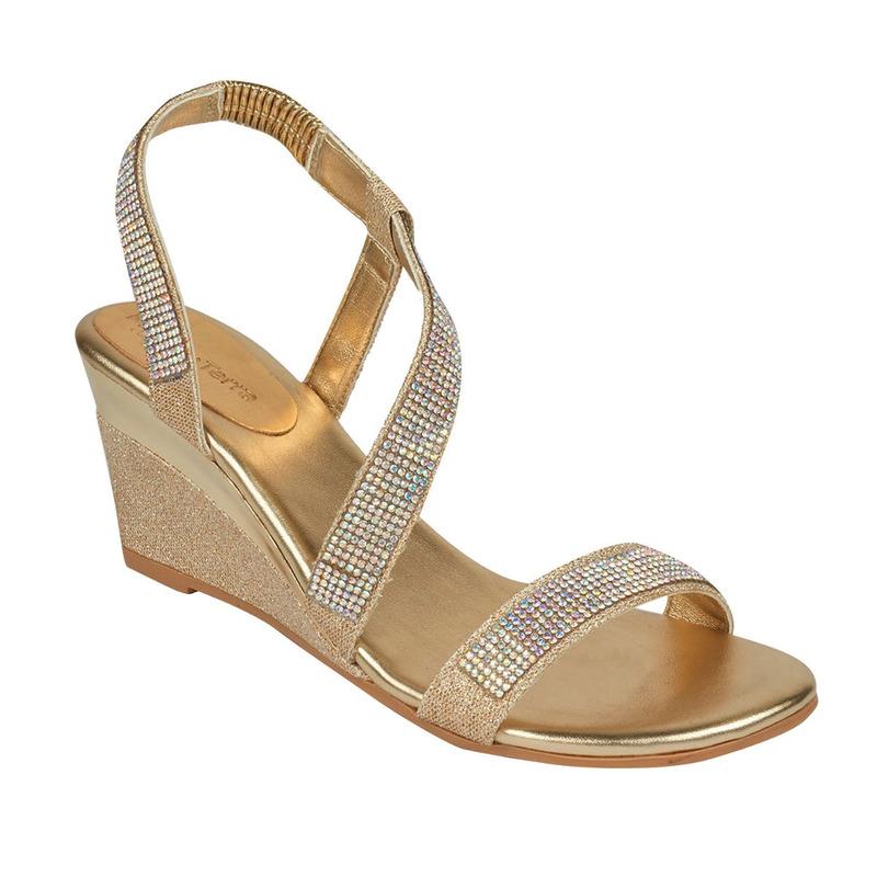 Sandalia plataforma dorada 016681