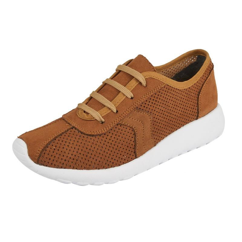 Sneakers cafés gamuza 016582