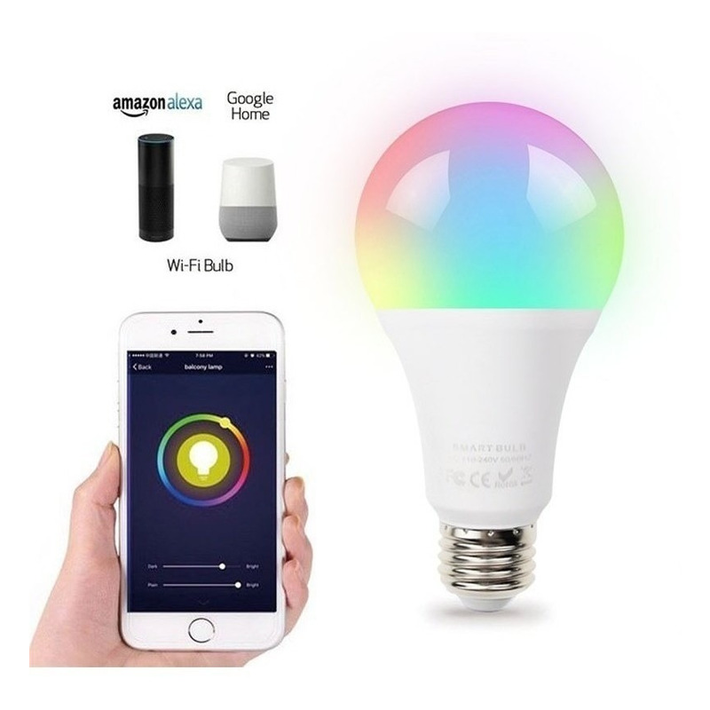 Lámpara Led Smart Life E27 Wifi Rgb Celular App Tuya Sf