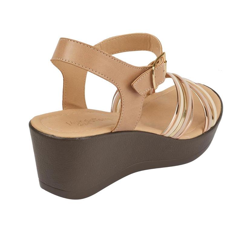Sandalia plataforma dorada 016651