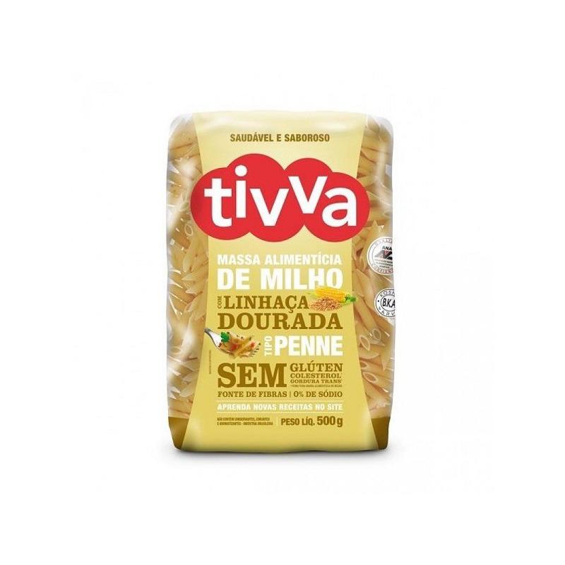 Penne de Milho com Linhaca Dourada Sem Gluten - 500g Tivva