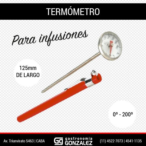 Termómetro para infusiones
