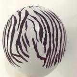 globo cebra 12 pulgadas desinflado apto helio