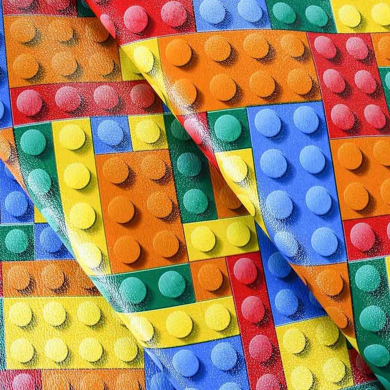 Tecido corino tipo lego colorido Larg. 1,40 m