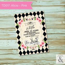 Invitación digital TD017 (Alic...