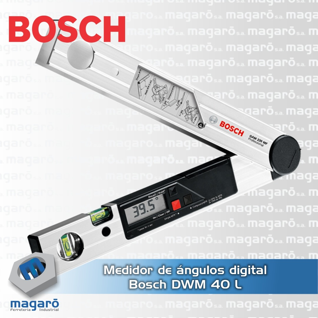 Medidor Angulos Bosch Dwm 40l Digital Nivel