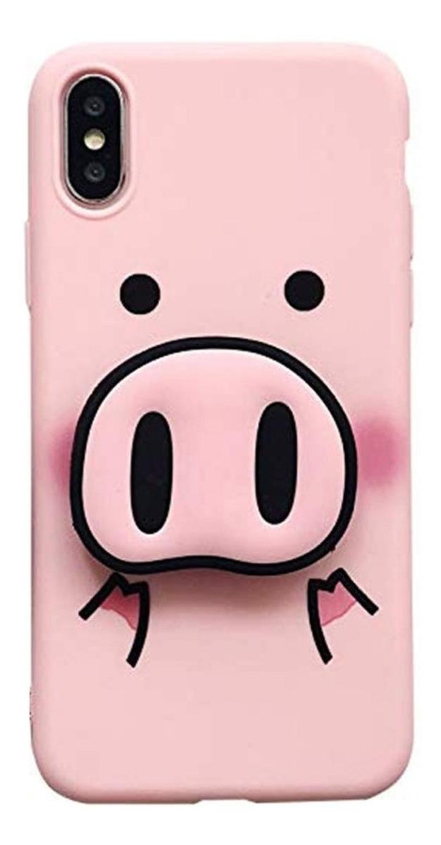 FUNDA ANIMAL PINK PIG PARA IPHONE XS MAX