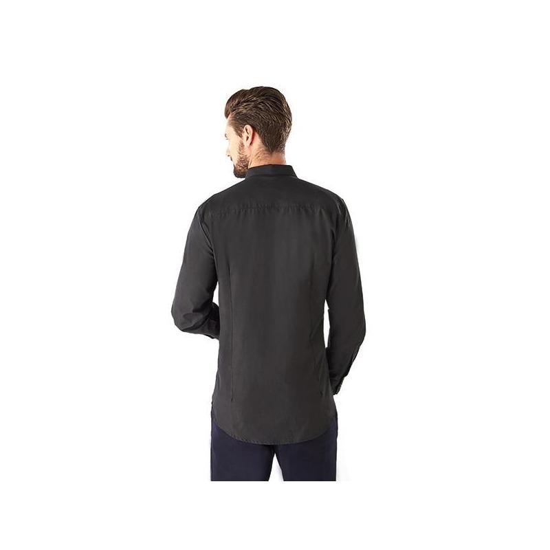 Camisa negra manga larga 015118