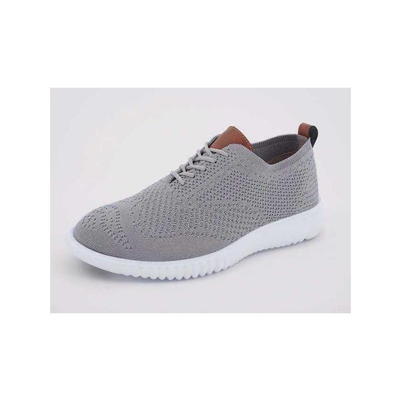Sneakers grises lengüeta miel 018384