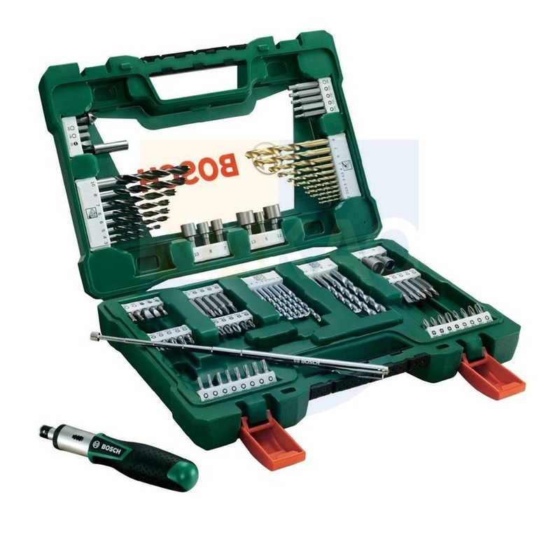 Kit de Brocas, Bits e Soquete c/91 peças V-Line - 2607017402 - Bosch