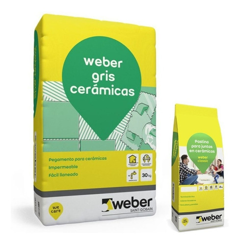 Pegamento Y Pastina Para Ceramicos Para 6m2 Weber Oferta