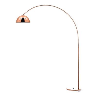 Lampara De Pie Arco Large Cobre Moderna Apto Led Luz Desing