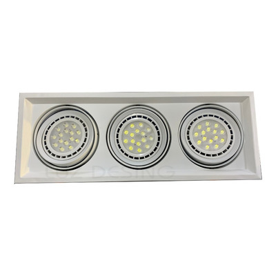 Spot Embutir 3 Luces Scenic Cardanico Profesional Ar111 Sf
