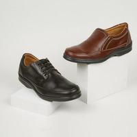 Combo zapato casual negro y miel 018487