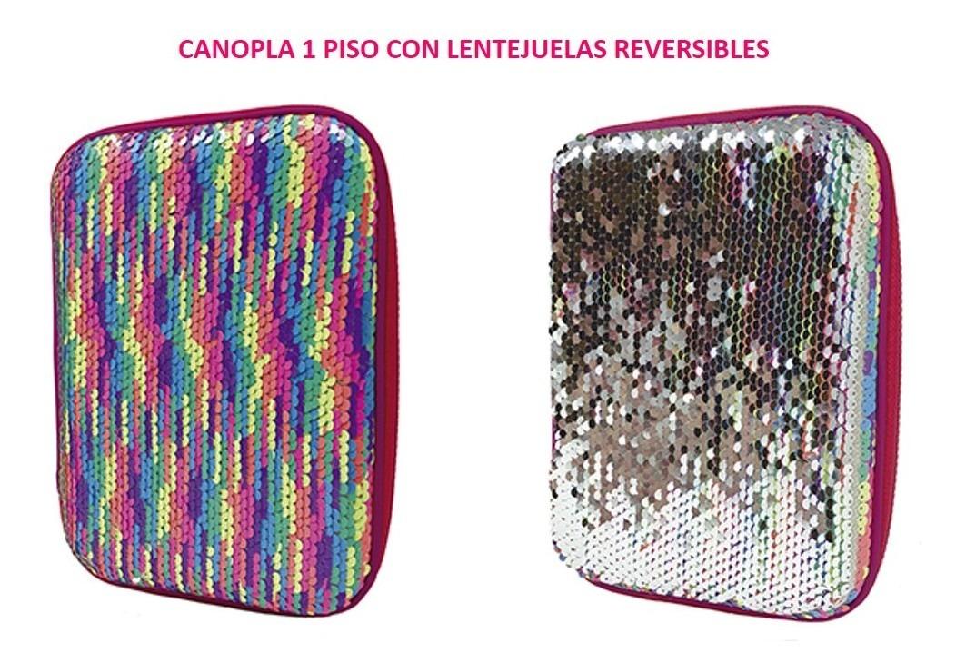 CANOPLA MOOVING 1 PISO CON LENTEJUELAS REVERSIBLES