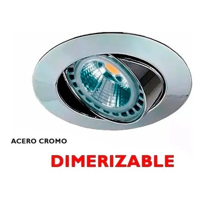 Spot Acero Fundición Inoxidable Con Led 7w Dimerizable Rd