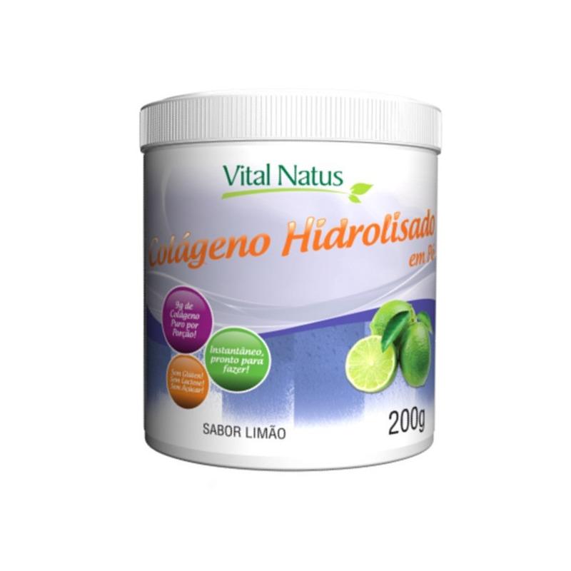 Colageno Hidrolisado em Po (Limao) - 200g - Vital Natus