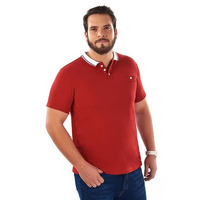 Camisa roja manga corta 014613