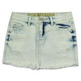 Saia Jeans Desbotada Puramania