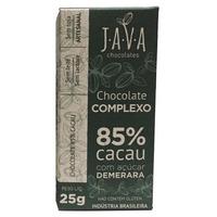 Chocolate Complexo 85% Cacau com Acucar Demerara 25g - Java