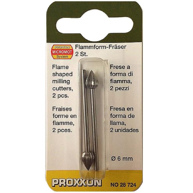 Jogo de Fresas Tipo Chama em Tungstênio 6mm 2 peças - 28724 - Proxxon