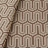 Tecido jacquard para almofada - bege/marrom - Impermeável - Coleção Panamá