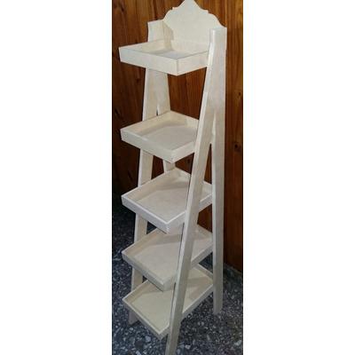 Repisa escalera 5 bandejas 1 40 de altura online2018 for Repisa escalera
