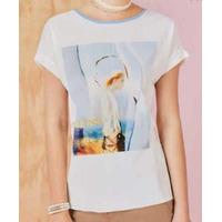 Blusa blanca manga corta  015139