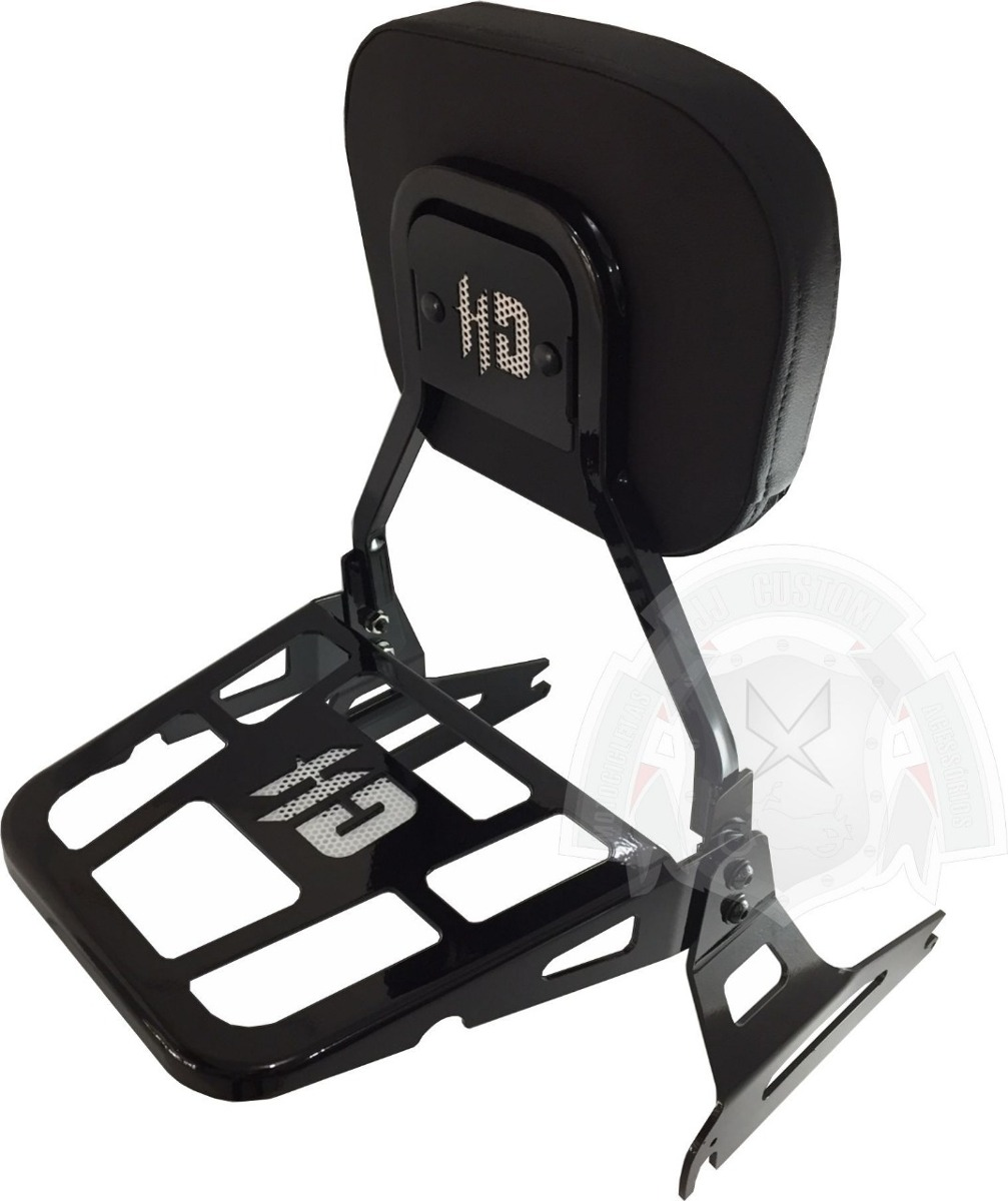 Sissy Bar Destacavel Preto Harley Fat Boy 2018 SBEN-35PT