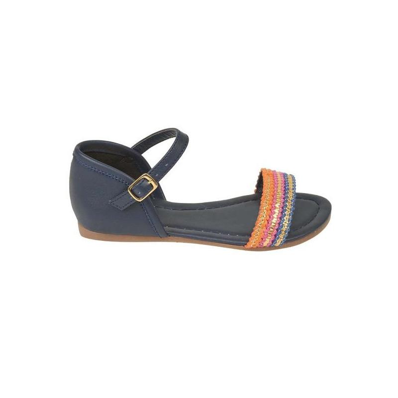 Sandalia azul multicolor con pulsera 018555