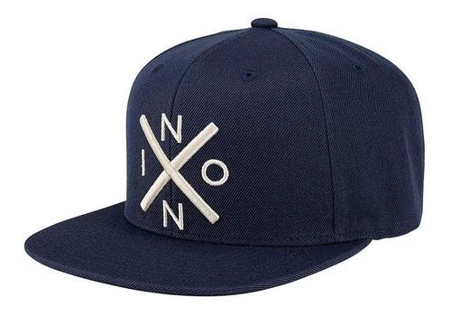 Nixon Exchange Snapback Cap-all black//black