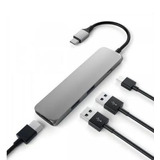 Satechi Adaptador Slim Aluminum Type-C Multi-Port (Space Gray) ST-CMAM 6600