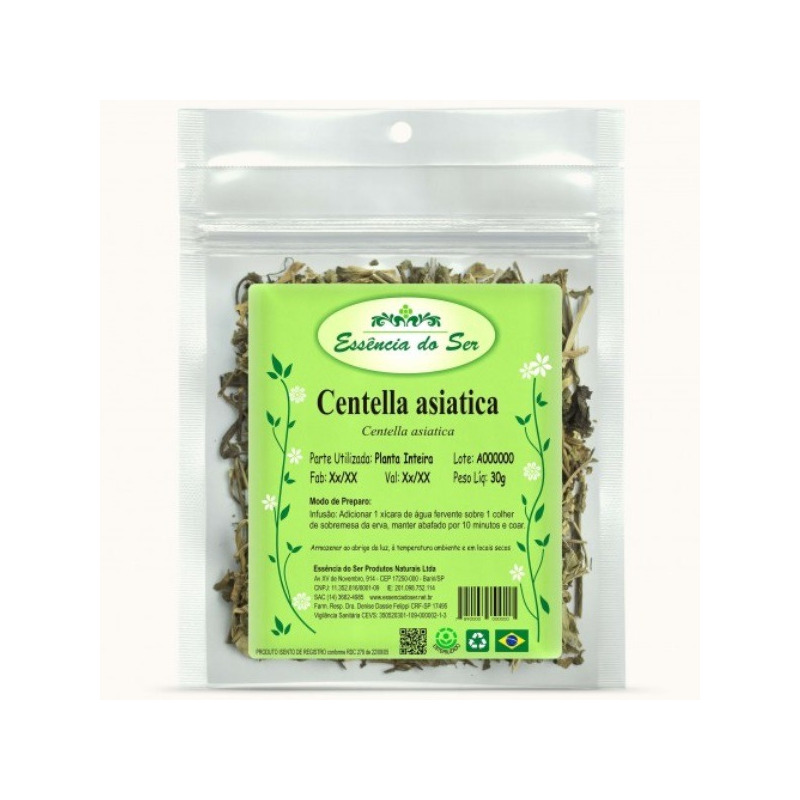 Cha de Centella Asiatica - Kit 3 x 30g - Essencia do Ser