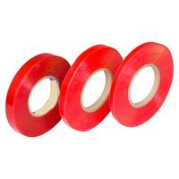 Fita dupla-face incolor com liner vermelho 15 mm x 50 m