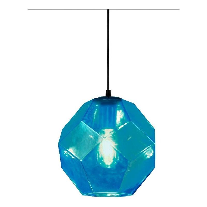 Colgante Cristal 1 Luz Turquesa Birk Moderno Apto Led Cie