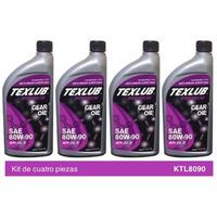Texlub GL5 mineral 80W90 Kit de 4p